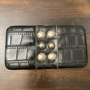 Large Black Clutch Wallet